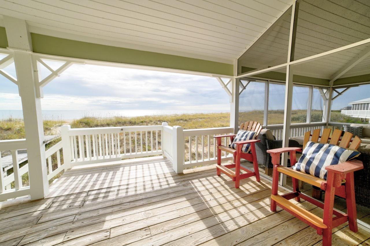 Captains chairs on the porch